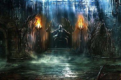 Quadro Gamer Mortal Kombat - Masmorra de Goro