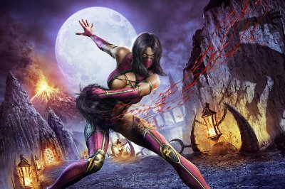 Quadro Gamer Mortal Kombat - Mileena