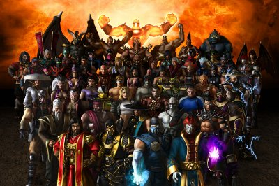 Quadro Gamer Mortal Kombat - Personagens