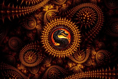 Quadro Gamer Mortal Kombat - Símbolo do Dragão