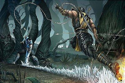 Quadro Gamer Mortal Kombat - Scorpion e Sub-Zero 2