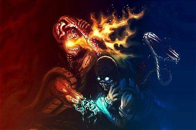 Quadro Gamer Mortal Kombat - Scorpion e Sub-Zero 3