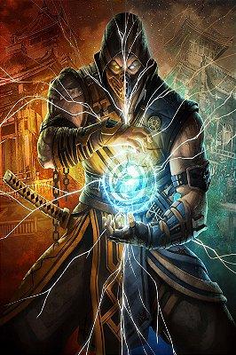 Quadro Gamer Mortal Kombat - Scorpion e Sub-Zero 4