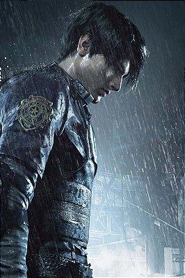 Quadro Gamer Resident Evil -  Leon Scott Kennedy