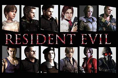 Quadro Gamer Resident Evil - Personagens