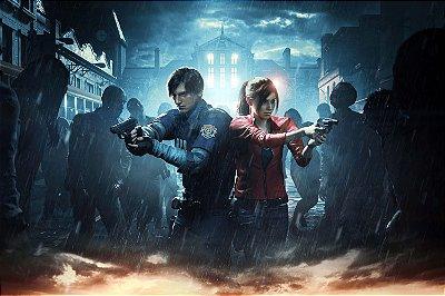 Quadro Gamer Resident Evil 2 - Leon e Claire