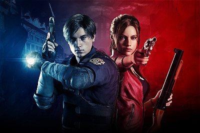 Quadro Gamer Resident Evil 2 - Leon e Claire 3