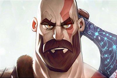 Quadro Gamer God of War - Kratos Artístico