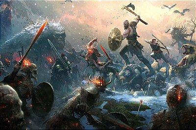 Quadro Gamer God of War - Kratos e Atreus 2