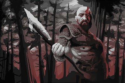 Quadro Gamer God of War - Kratos Artístico 2