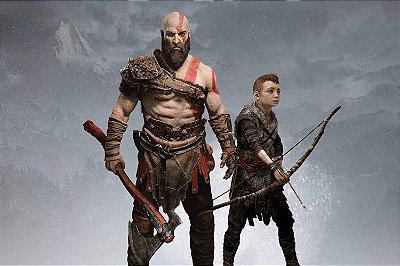 Quadro Gamer God of War - Kratos e Atreus 3
