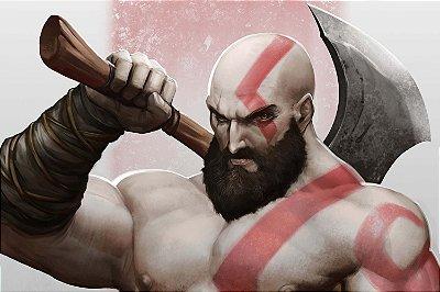 Quadro Gamer God of War - Kratos Artístico 3