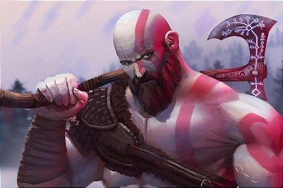 Quadro Gamer God of War - Kratos Artístico 4