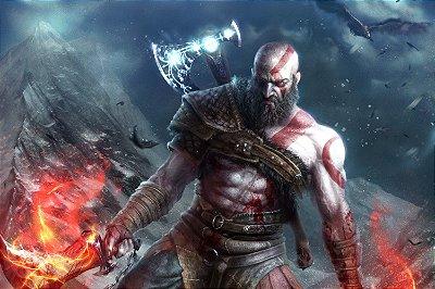 Quadro Gamer God of War - Kratos Artístico 5