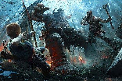 Quadro Gamer God of War - Kratos e Atreus 4