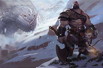 Quadro Gamer God of War - Kratos e Atreus Artístico 3
