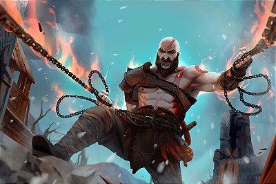 Quadro Gamer God of War - Kratos Artístico 7