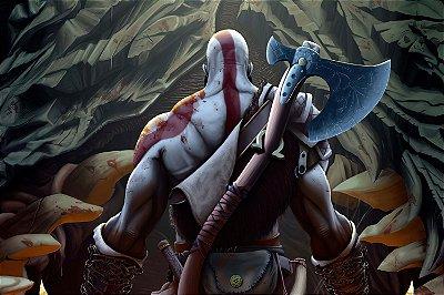 Quadro Gamer God of War - Kratos Artístico 8