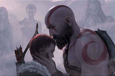 Quadro Gamer God of War - Kratos e Atreus Artístico 6