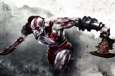 Quadro Gamer God of War - Kratos 3