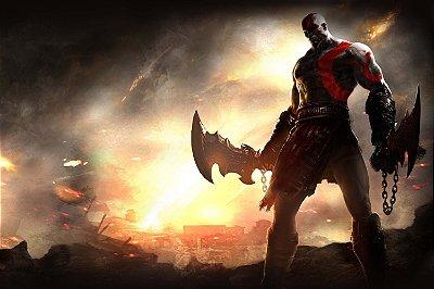 Quadro Gamer God of War - Kratos 5