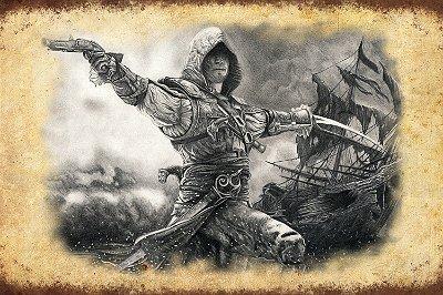 Quadro Gamer Assassin's Creed - Pirata