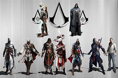 Quadro Gamer Assassin's Creed - Assassinos