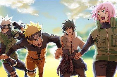 Quadro Naruto - Time 7 Shippuden