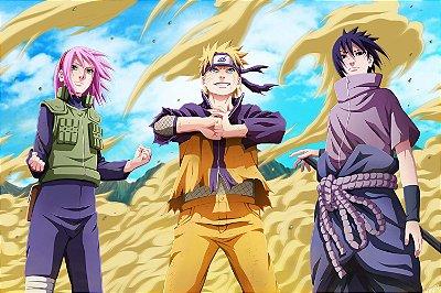Quadro Naruto - Sakura, Naruto e Sasuke