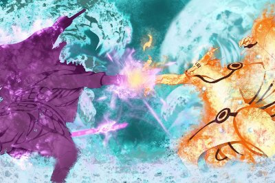Quadro Naruto - Kurama vs Susanoo