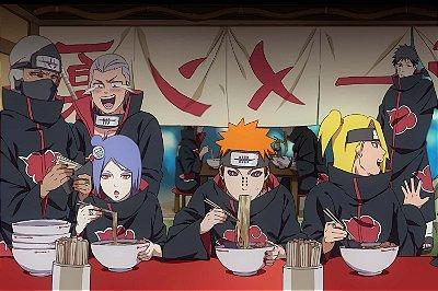 Quadro Naruto - Akatsuki Lámen