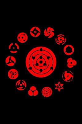 Quadro Naruto - Todos os Sharingans