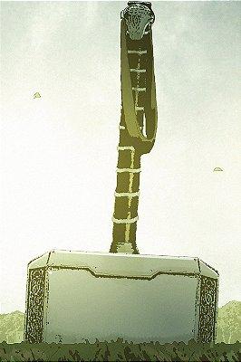 Quadro Thor - Martelo Mjolnir