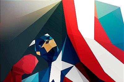 Quadro Capitão América - Geométrico