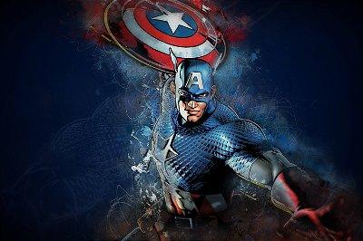 Quadro Capitão América - Artístico