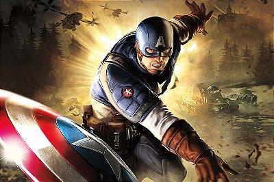 Quadro Capitão América - Guerra Mundial