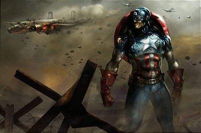 Quadro Capitão América - Guerra Mundial 2