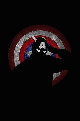 Quadro Capitão América - Minimalista