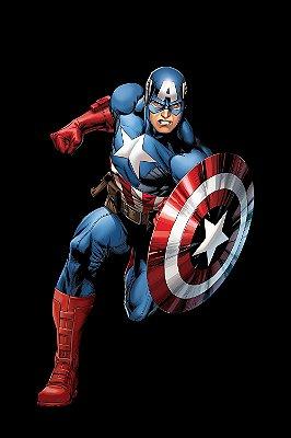 Quadro Capitão América - Minimalista 2