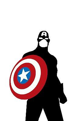 Quadro Capitão América - Minimalista 3
