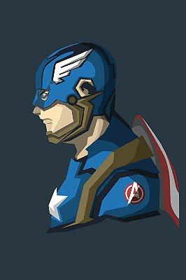 Quadro Capitão América - Minimalista 4