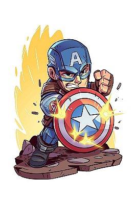 Quadro Capitão América - Desenho