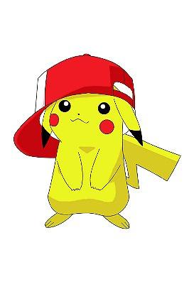 Quadro Pokémon - Pikachu de Boné