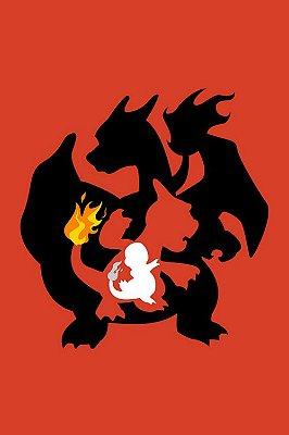 Quadro Pokémon - Evolução do Charmander