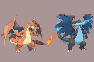 Quadro Pokémon - Charizard e Mega Charizard de Gelo
