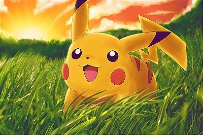 Quadro Pokémon - Pikachu na Grama