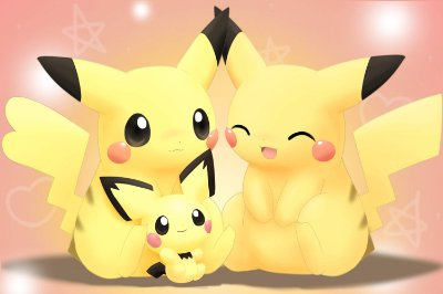 Quadro Pokémon - Família Pikachu