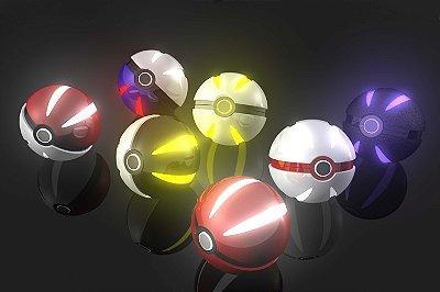 Quadro Pokémon - Pokebolas 2