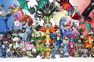 Quadro Pokémon - Pokémons Geração 7
