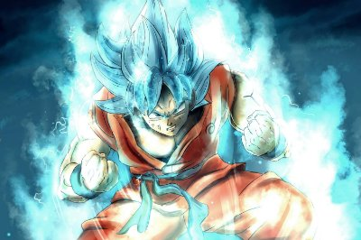 Quadro Dragon Ball - Goku Super Saiyajin Azul